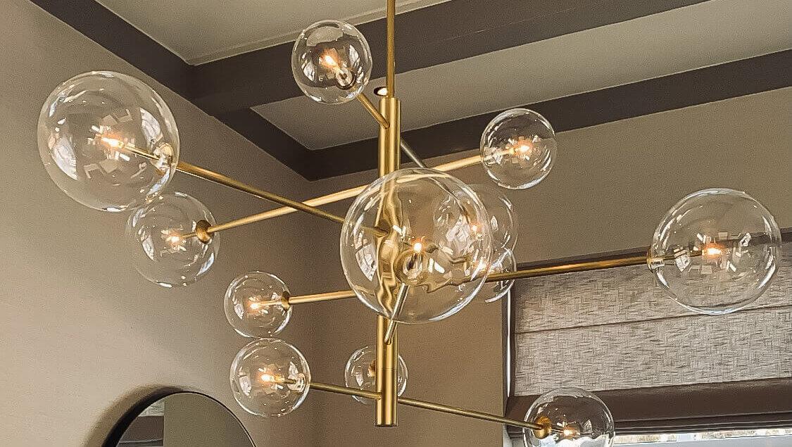 Woonhuis Eichholtz eyecatcher lamp lichtplan
